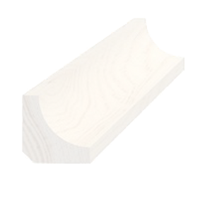 Hulkehlliste, fyr hvid 5041, 21x21 mm, pris pr. meter