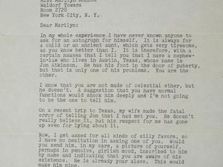 JOHN STEINBECK'S LETTER TO MARILYN MONROE