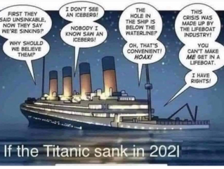 IF THE TITANIC SANK IN 2021 ...