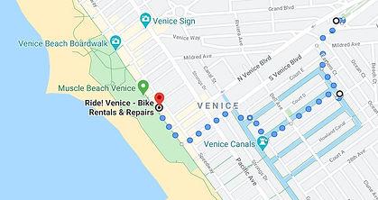 Itineray map of LA, venice beach