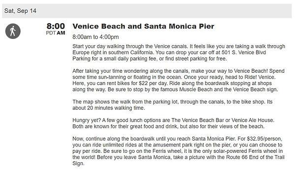 Venice beach travel plans itinerary
