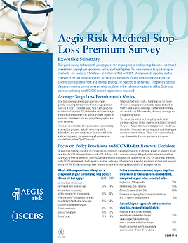 2020 Aegis Risk Medical Stop Loss Premiu