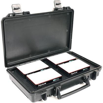 Aputure MC 4-Light Travel Kit met lader case