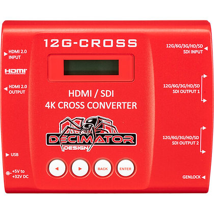 DECIMATOR 12G-CROSS 4K HDMI/SDI Cross Converter