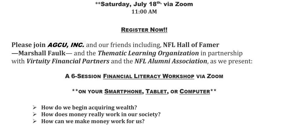 Free Financial Literacy Workshop (Session 1)