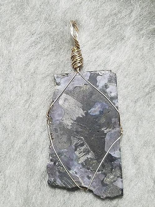 Gabbro and Sterling Silver Pendant