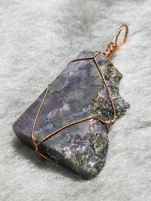Gabbro and Copper Pendant