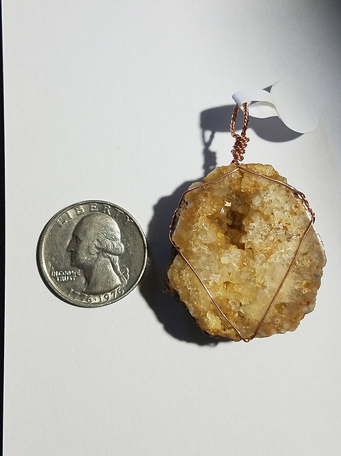 Geode and Copper Pendant