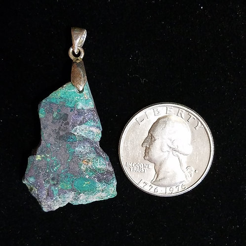 Mexican Green Jasper and Sterling Silver Pendant
