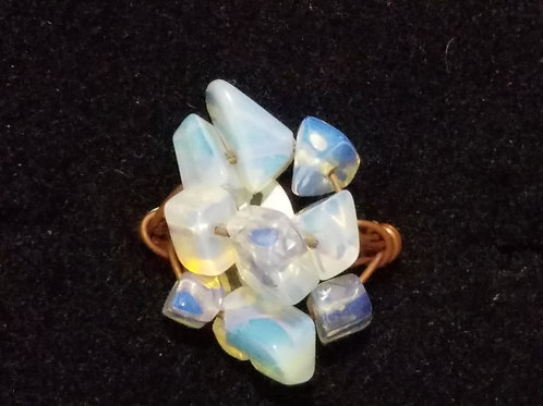 Opalite and Copper Ring