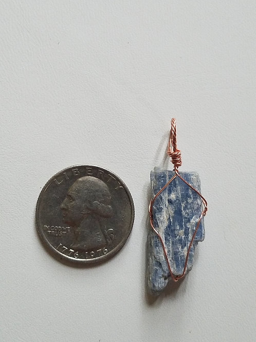 Kyanite and Copper Pendant