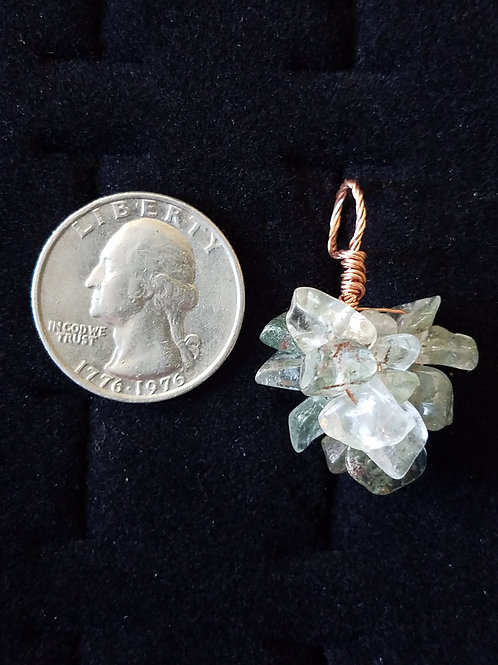 Prehnite and Copper Pendant