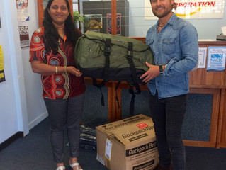 Backpack beds for the homeless