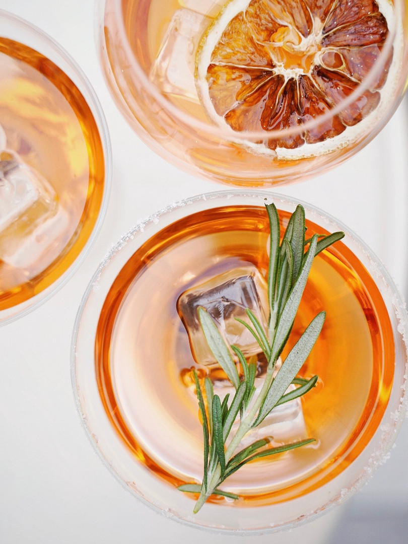 Smoked Rosemary Tangerine Old Fashioned