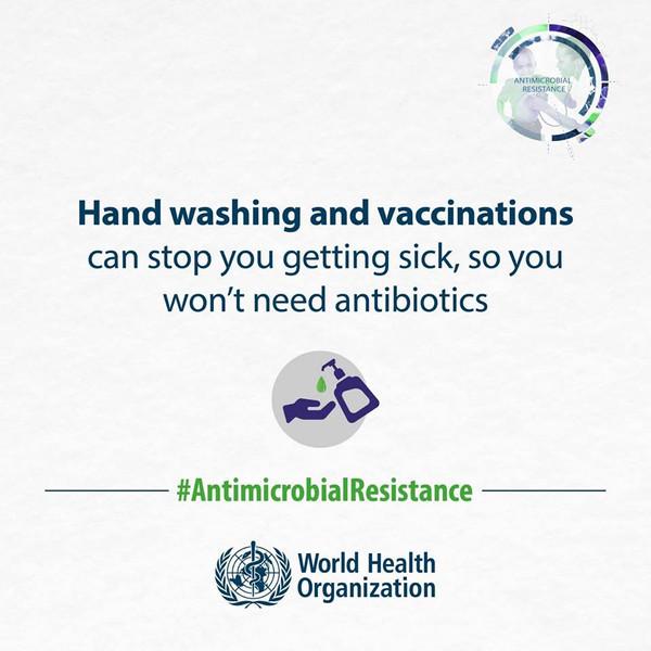 Manos limpias salvan vidas... y las vacunas también...