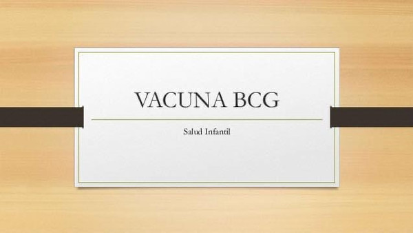 Vacuna Tuberculosis BCG