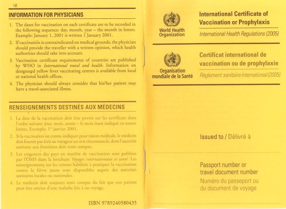 Carnet Internacional de Vacunación