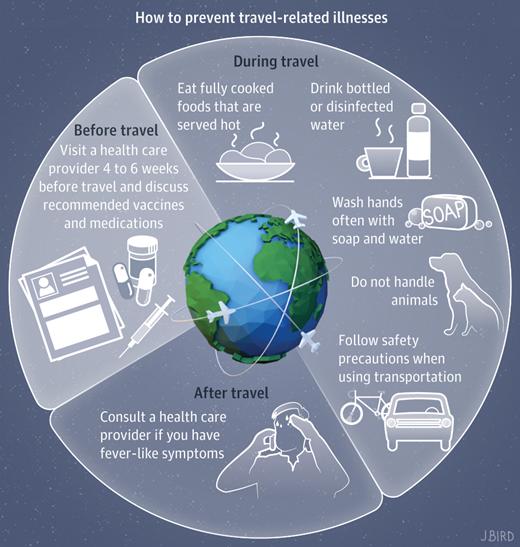 Evitar enfermedades durante tu viaje internacional...