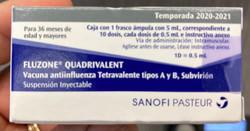 Vacuna Fluzone Cuadrivalente Sanofi Pasteur 2020-2021