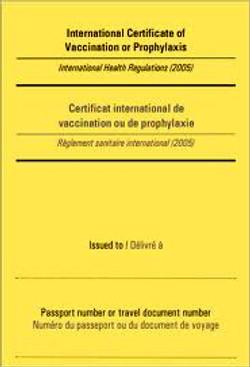 Cartilla Internacional de Vacunación