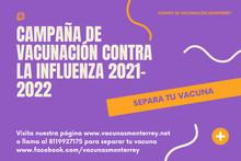 Vacuna Influenza 2021-2022 en Monterrey