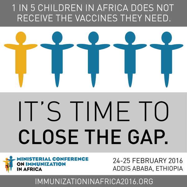 Es momento de cerrar la brecha... 1 de cada 5 niños en África no tienen vacunas...