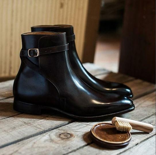 Черные ботинки на заказ