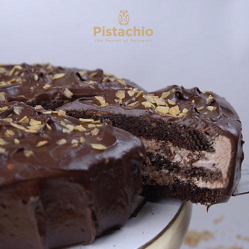 Fudge Crispy Chocolate Torte