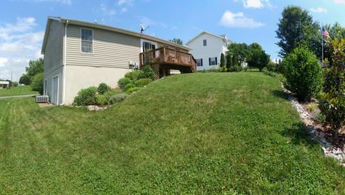 Backyard and house