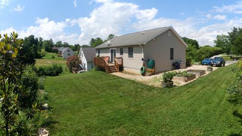 House and backyard