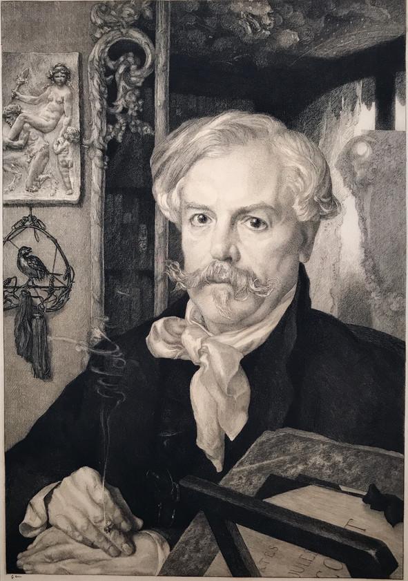 Portrait of Edmond de Goncourt