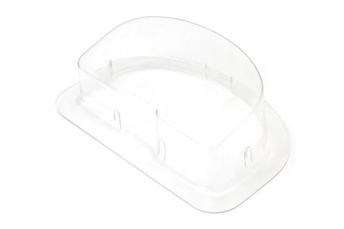 Haltech IQ3 Dash Clear plastic cover with mounting flange