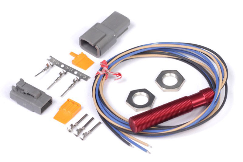 "Haltech ""Red"" Single Channel Hall Effect Sensor THREAD: M12x1.0"