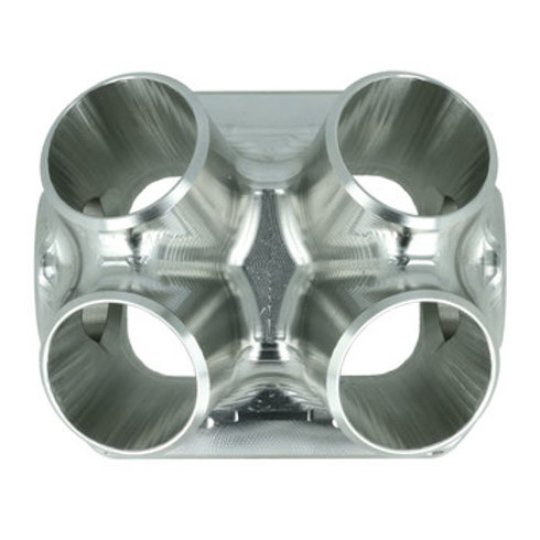 4-Cyl. CNC stainless steel turbo manifold collector T4 Twinscroll with 2x Wasteg