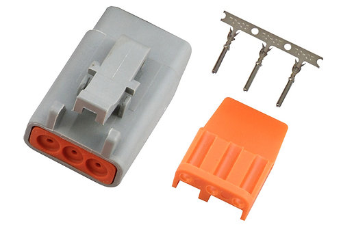 Haltech Plug and Pins Only - Male Deutsch DTM-3 Connector (7.5 Amp)