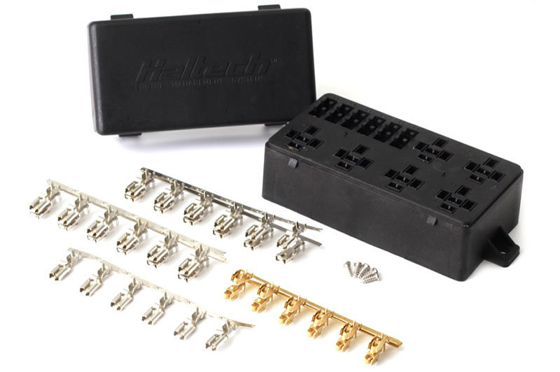6 Circuit Haltech Fuse Box with Lid