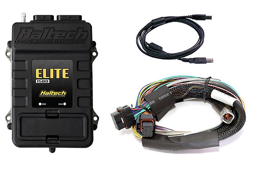 Haltech Elite 1500 + Basic Universal Wire-in Harness Kit LENGTH: 2.5m (8')
