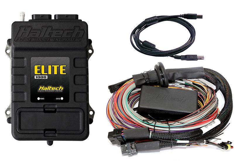 Haltech Elite 1000 + Premium Universal Wire-in Harness Kit LENGTH: 2.5m (8')