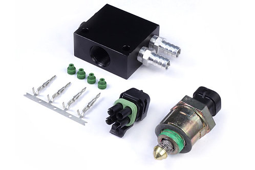 Haltech Idle Air Control Kit - Billet 4 Port Housing with Screw-in Motor