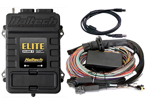 Haltech Elite 2500 T + Premium Universal Wire-in Harness Kit LENGTH: 2.5m (8')