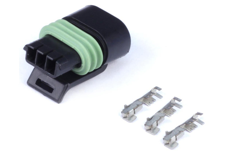 Haltech Plug and Pins Only - Delphi 3 Pin Single Row Flat Coil Connector