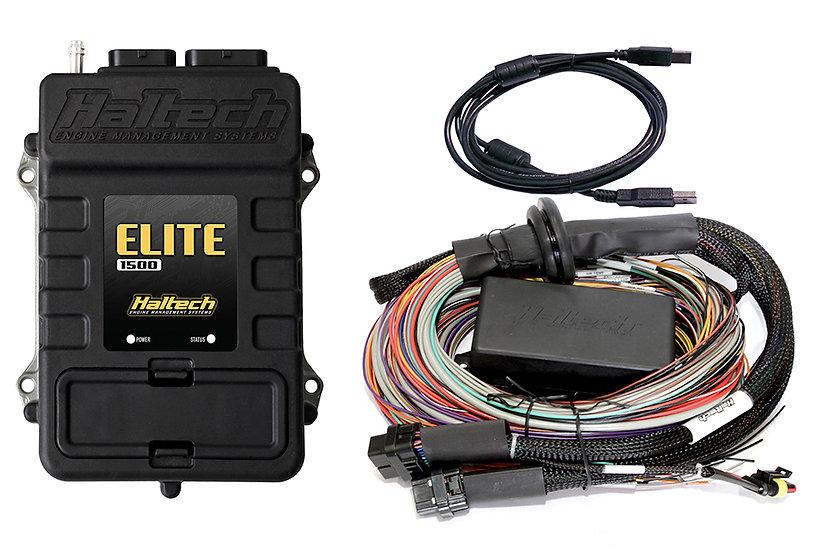 Haltech Elite 1500 + Premium Universal Wire-in Harness Kit LENGTH: 2.5m (8')