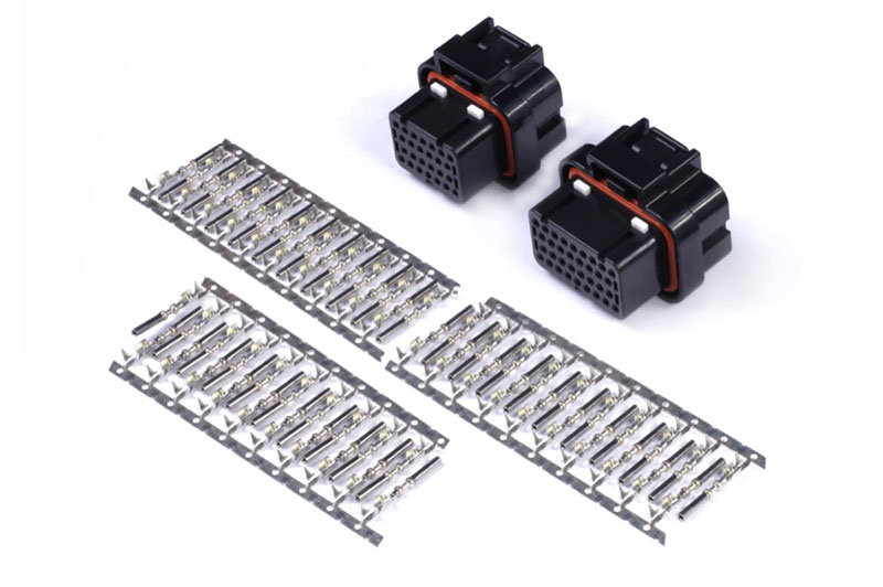 Haltech Plug and Pins Only-AMP 26 & 34 Pin4 Row 3 Keyway Superseal Connector Set