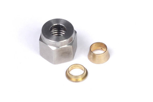 """Haltech 1/4"""" Nut and Brass Ferrule Only"""