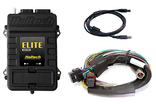Haltech Elite 1000 + Basic Universal Wire-in Harness Kit LENGTH: 2.5m (8')