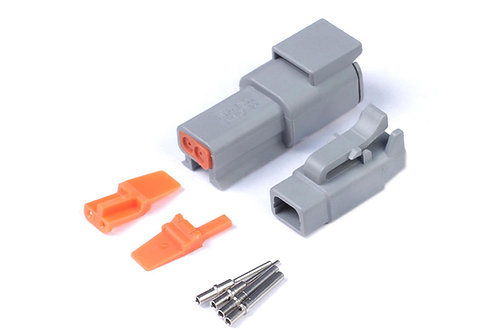Haltech Plug and Pins Only - Matching Set of Deutsch DTM-2 Connectors (7.5 Amp)