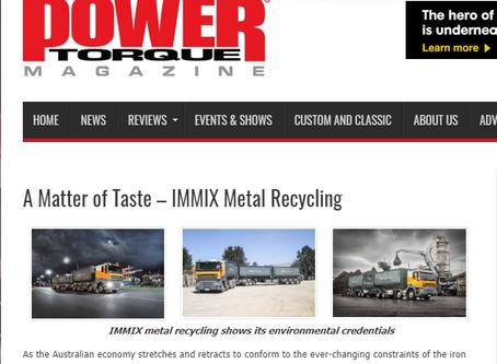 Immix features in Power Torque Magazine