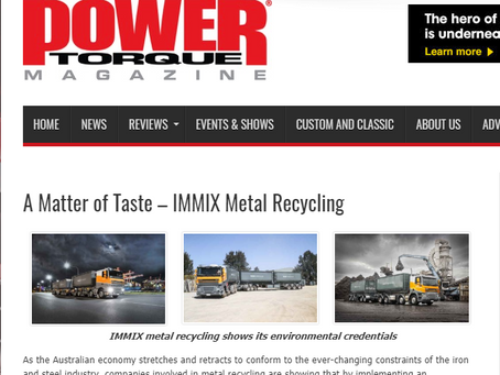 Immix features in Power Torque Magazine