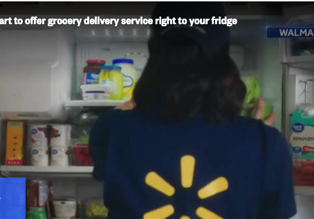 Walmart to offer grocery delivery service right to your fridge