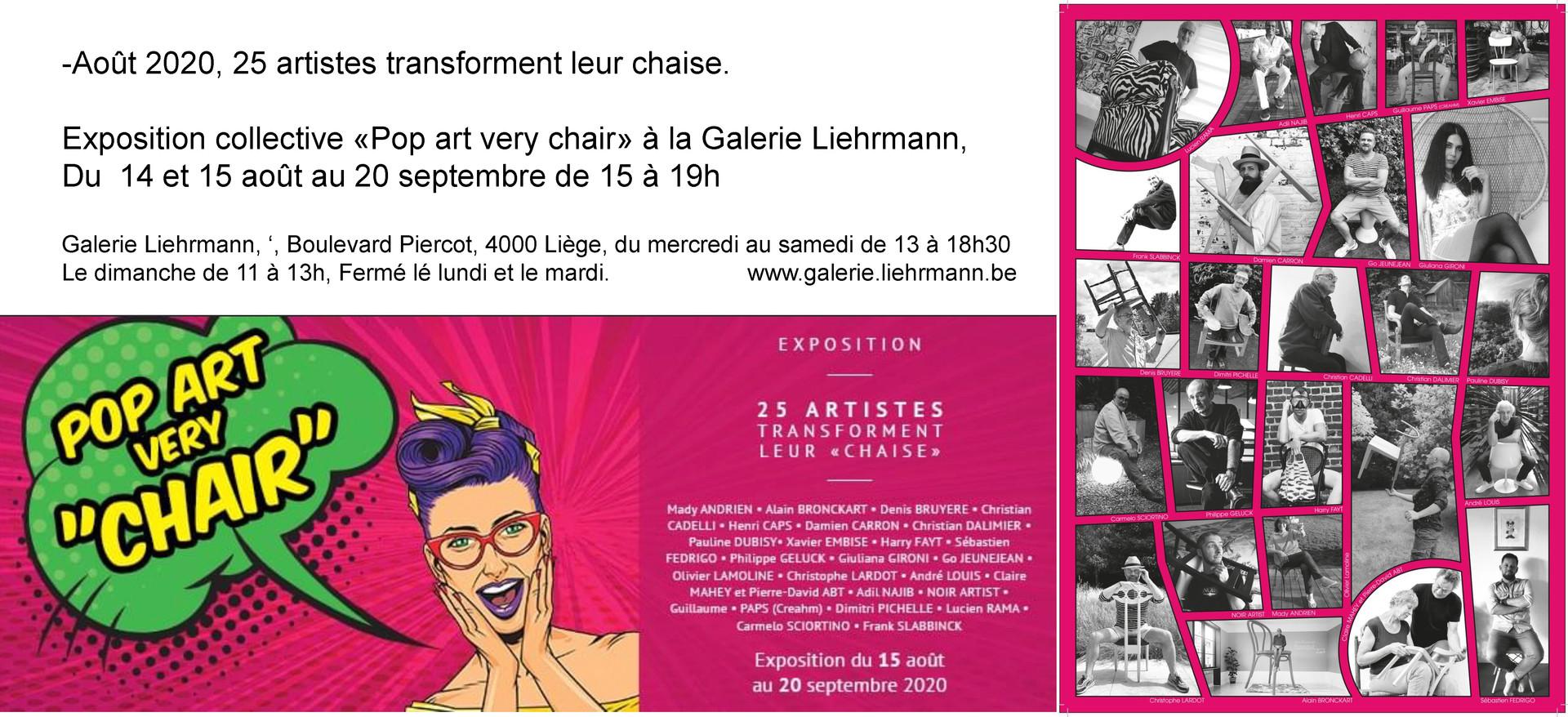 """Exposition """" Pop art very chair"""""""